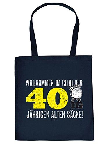 40 Tragetasche Henkeltasche Beutel DER WILLKOMMEN Bag CLUB Tote IM IG Aufdruck have mit Stofftasche Must P8ttEBwq1