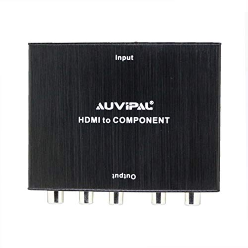 AuviPal 4K HDMI to Component Adapter for HDMI Streaming Player/Stick, PS3/4, Xbox, Nintendo Game Consoles, HDMI to 5RCA (YPbPr + R/L) Component RGB Video Converter (Console Component)