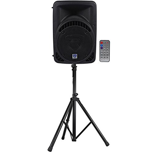 Rockville RPG8BT 8'' Powered 400W DJ PA Speaker BlueTooth,USB,SD,Remote + Stand by Rockville
