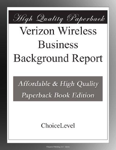 Verizon Wireless Business Background Report