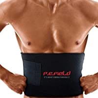 P.E.Field Premium Waist Trimmer for Faster Weight Loss, for Men & Women - Includes Free Breathable Carrying Case