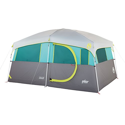 Tenaya Lake Lighted Fast Pitch Cabin Tent with Closet, 8-Person