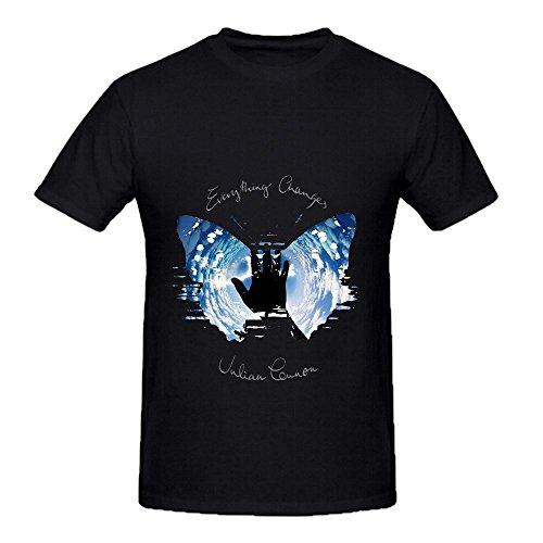 Heathered Black Rockers (Julian Lennon Everything Changes Rock Men O Neck Slim Fit Tee Shirts Black)
