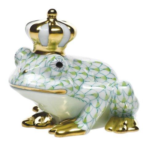 Herend Frog Prince Porcelain Figurine Key Lime Fishnet ()
