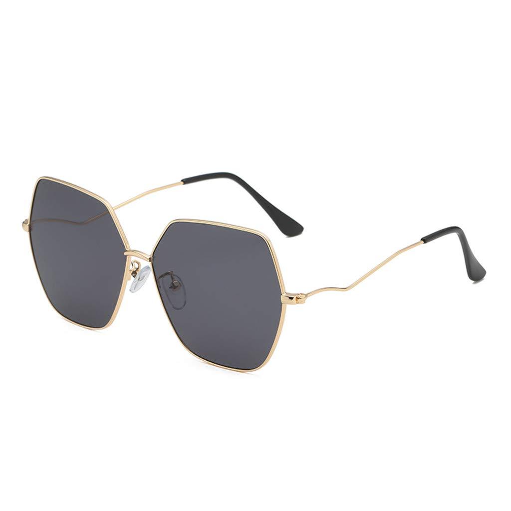 ♛TIANMI Man Women Irregular Shape Sunglasses Unisex Fashion Outdoor Beach Glasses Vintage Retro Style