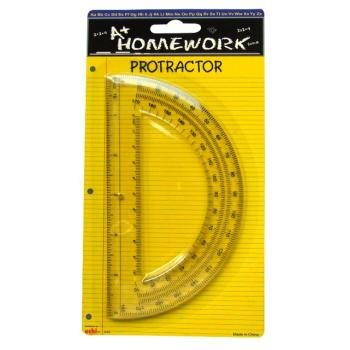 Protractor - 6'' - 180 degrees - plastic 48 pcs sku# 1192905MA by DDI (Image #1)