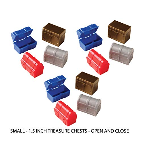 Multiple Mini Treasure Chests 12 12 Video Game Party Favors for 12 Camo Dog Tag Chains and Gamer Party Sticker Total 37 Pieces Paratroopers 3 Inch 12