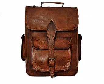 Amazon.com: Handmade Genuine Leather Backpack Laptop Bag
