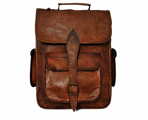 Handmade Genuine Leather Backpack Laptop Bag for Men Women Gift for him her