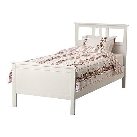 IKEA HEMNES - Bed frame, white stain - Standard Single: Amazon.co.uk ...