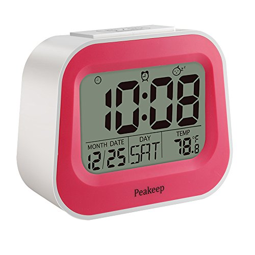 Peakeep-Gradually-Louder-Nature-and-Animal-Sounds-Alarm-Clock-with-Adjustable-Snooze-Time-and-Nightlight-Dual-Power-Supply-Battery-Backup