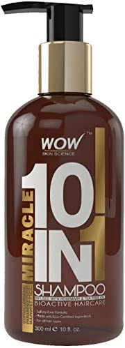 WOW Miracle 10 in 1 Shampoo 300ml  No Parabens & Sulphates
