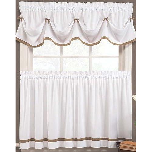 Valances Kitchen Curtains Amazon: Cafe Curtains With Valance: Amazon.com