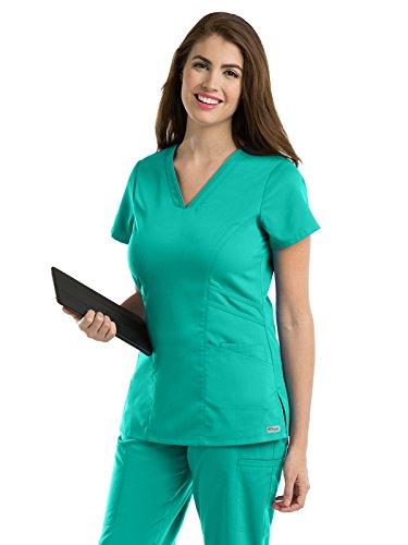 Grey's Anatomy 41452 V-Neck Top Tropic Jade (Jade Scrub Top)
