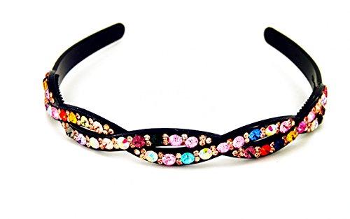 Yeshan Rhinestone Headband Hairband Multicolors