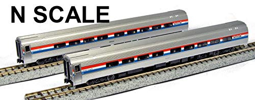 Kato USA Model Train Products Amfleet II Phase III Car Set A, Set of 2