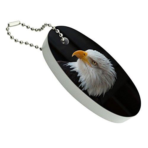 Keychain Bald Eagle (Stoic Bald Eagle Floating Foam Keychain Fishing Boat Buoy Key Float)