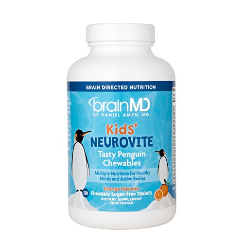 Dr. Amen Kids' NeuroVite Orange Flavored Penguin Chewables by BrainMD Health