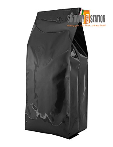 5 lb Side Gusseted Bag – Black (100 ct) (Black) by Sinowaypouchstation