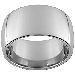 12mm Tungsten Carbide Dome Ring (full and half sizes 5-15)