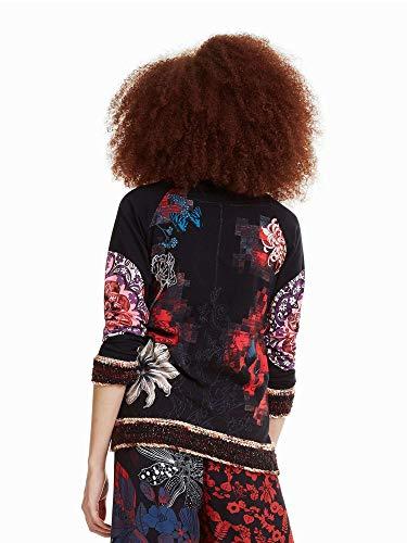 Milena Desigual Negro Camiseta Mujer De Negra 55rfwqRT