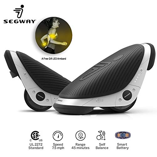 Ninebot by Segway Drift W1 e-Skates Smart Self-Balancing Hovershoes | One Wheel Drift Freeline Roller Skates Hover Board Balance Scooter-7.5mph Max Speed