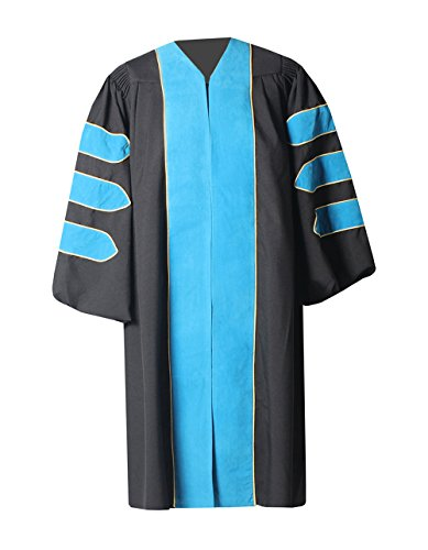 2' Wide Cuff - GraduationForYou Unisex Deluxe Doctoral Graduation Gown with Gold Piping,Customized Acceptable