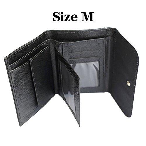 Men's Leather Stylish YEX Chic Pattern Wallet 6 Lion Black UwxxqSdfP