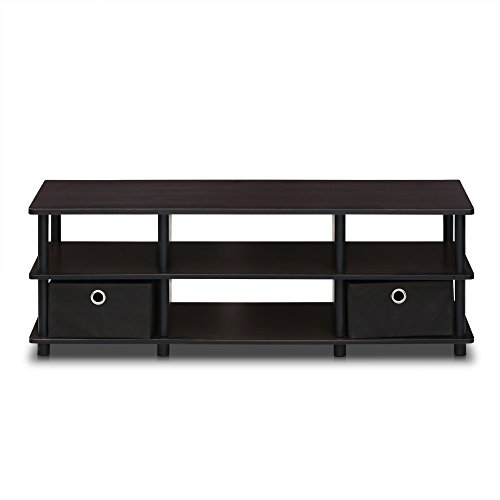 FURINNO 17038EX/BK Econ TV Entertainment Center, Espresso