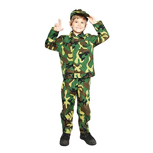 Military Uniform Costumes - Kids Camo Camouflage Army Military Soldier