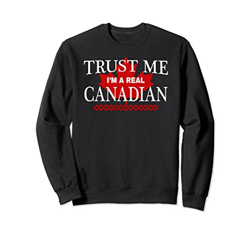 Unisex Real Canadian Shirt Funny Canada Maple Leaf Sweater Small - Real Canada Women