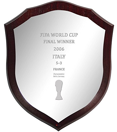 2006 Fifa World Cup Italy - Italy 2006 Fifa World Cup Winner Wall or Desk Shield Pewter