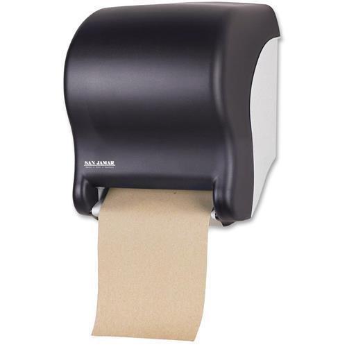 T8000TBK San Jamar Tear-N-Dry Essence Towel Dispenser - Roll - 14.4'' x 11.7'' x 9.1'' - Plastic - Black