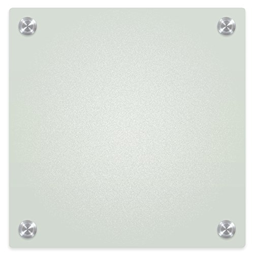 Best-Rite 83948 Enlighten Glass Dry Erase Whiteboard, Frosted Pearl 1/8 inch Tempered Glass, 1 x 1 Feet