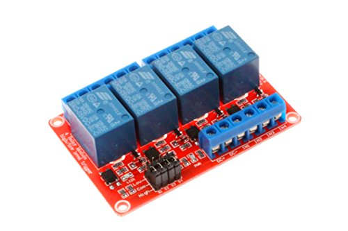NOYITO 4 Channel Relay Module High Low Level Trigger With Optocoupler Isolation Load DC 30V AC 250V 10A for PLC Automation Equipment Control Industrial Control Arduino (4-Channel 5V)