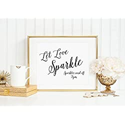 Let Love Sparkle Sign, Wedding Sparkler Send Off Sign, Wedding Exit Sign, Wedding Reception Signs, Wedding Signage, Your Choice of Size and Color Print Sign (UNFRAMED)