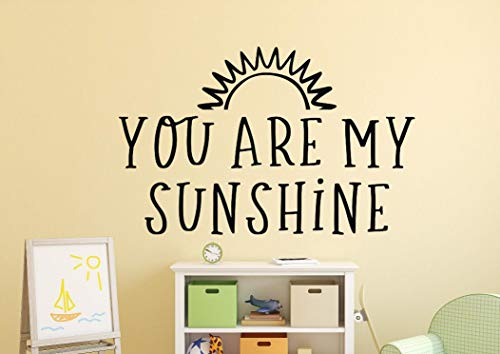 You are My Sunshine Nursery Decal You are My Sunshine Wall Decal You are My Sunshine Nursery Art Sunshine Wall Decal Sunshine Nursery 23