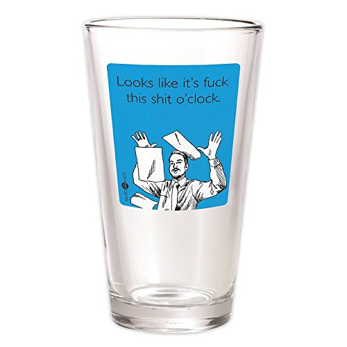 Someecards F This S O'clock Pint Glass - Blue