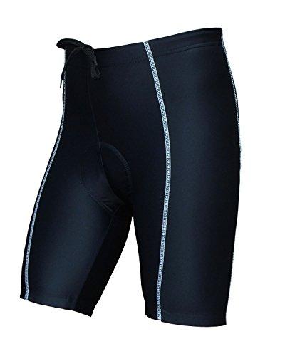 Wellcls Men's Cycling Shorts 3D Padded Bike Bicycle Wear Half Pants (Black/White, Medium)