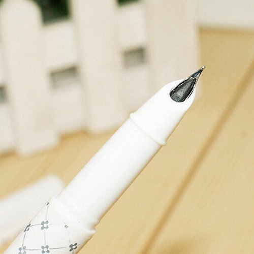 Slendima Broad NIB Blue and White Porcelain Fountain Pen, School Office Writing Stationery by Slendima (Image #2)