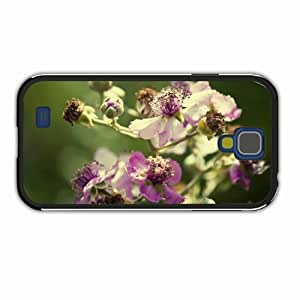 Custom-Made Samsung Galaxy Cases S4 3D The Little Mermaid Macro Flower Plant Blurred Of Fashion Gift Black Cellphone...