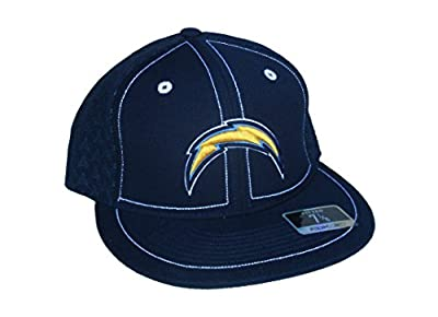 Los Angeles Chargers Fitted Size 7 1/8 Navy Blue Side Panel Graphic Hat Cap
