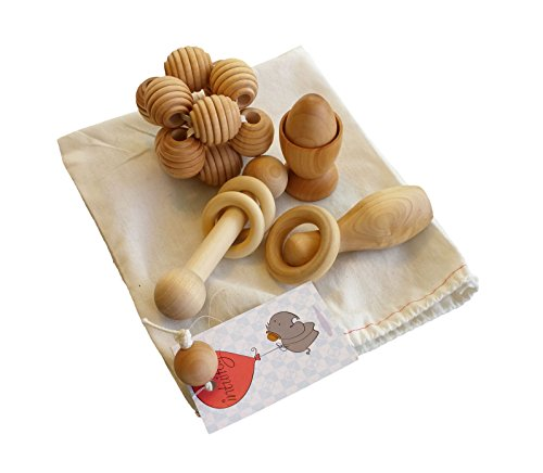Intuitoys Montessori Inspired All Natural Wooden Baby Development and Discovery