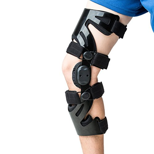 Orthomen Functional Knee Brace for Sports, ACL LCL MCL Meniscus Tear Injury Recovery (L – Left)