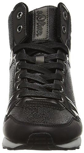 s.Oliver Damen 25221 Sneaker Schwarz (Black Comb 98)