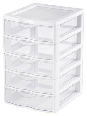 Sterilite 2194-1570 5 Drawer Clear View Storage Unit