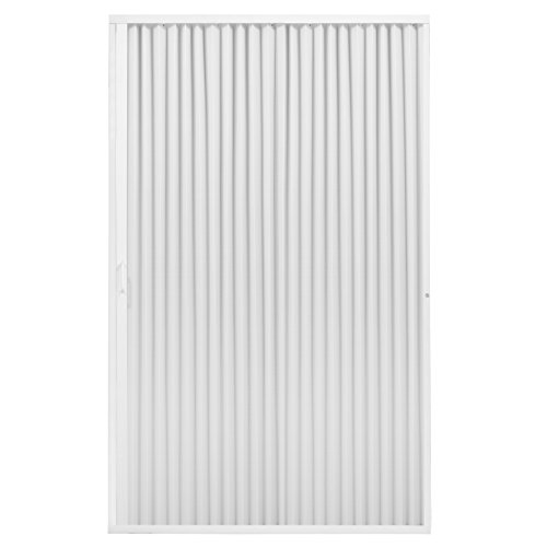 "RecPro RV Shower Doors | RV Pleated Folding Shower Doors (White) 60""x 67"" 