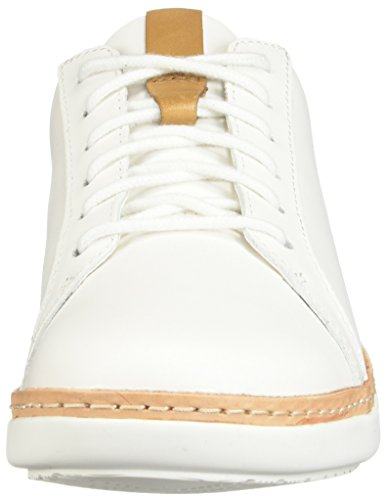 White Amberlee Leather Womens CLARKS Rosa t417qgxnw