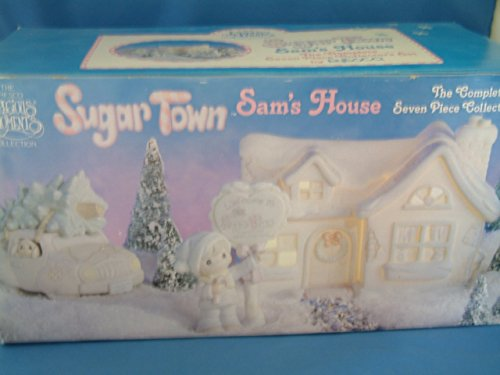 Sugar Town Sam s House The complete 7 piece collector s set Precious Moments 531774