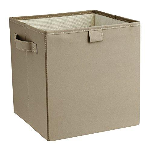 ClosetMaid 16082 Premium 2-Handle Storage Bin, Taupe -